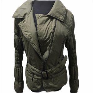 Cristina gavioli puffer jacket olive green